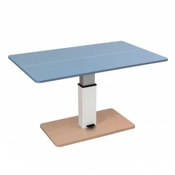 昇降式テーブル兼卓球台ライトブルーXナチュラルSHT-2 ■代金引換不可■