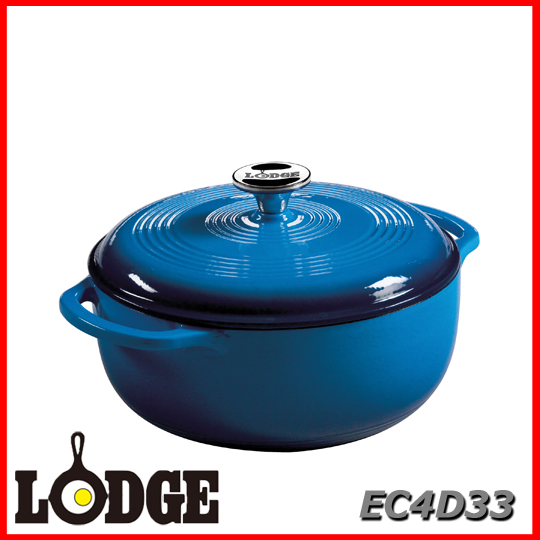 ■送料無料■LODGE ロッジ エナメルダッチオーブン 4.6クォート EC4D33アウトドア キッチン 料理 鍋