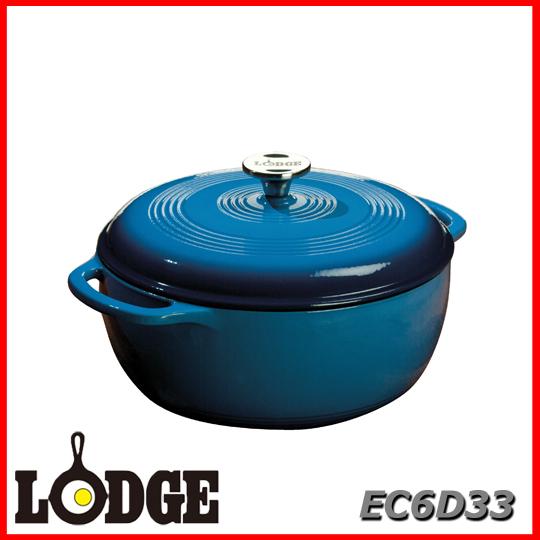 ■送料無料■LODGE ロッジ エナメルダッチオーブン 6クォート EC6D33アウトドア キッチン 料理 鍋
