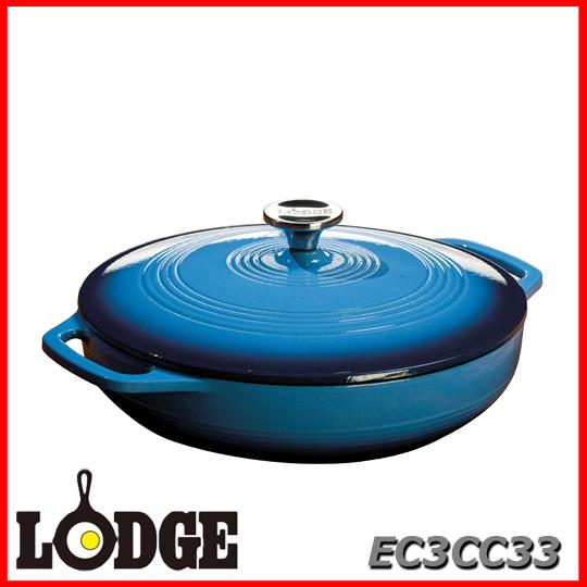 ■送料無料■LODGE ロッジ エナメルキャセロール EC3CC33 ブルーアウトドア キッチン 料理 鍋