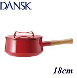 DANSK ダンスク コベンスタイル 片手鍋 18cm チリレッド 834298 ホーローウェア デンマーク 母の日 プレゼント ギフト 贈り物 喜ばれる