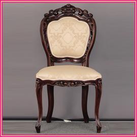■送料無料■アンティーク調家具 フランシスカチェアー 肘無 ブラウン 90021 チェアー/椅子/ソファー