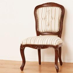 【メーカー直送の為代引き不可】マルシェ チェアー 肘なし [完成品] アンティーク調 肘無し椅子