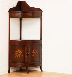 【メーカー直送の為代引き不可】マルシェ コーナーラック ブラウン [完成品] ヨーロッパアンティーク調 家具 #28567