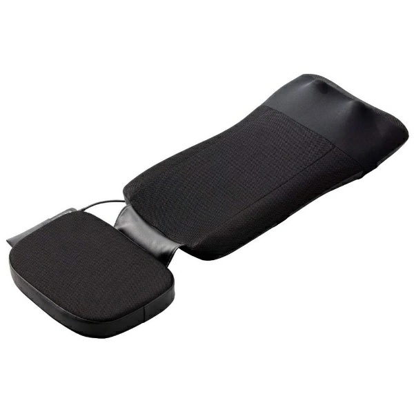 ソファや椅子で気軽にマッサージ 父の日 敬老の日 スライヴ THRIVE マッサージシート 期間限定送料無料 肩から腰をしっかりとマッサージ MD-8670-BK ブラック 首 もみ玉機能で 倉