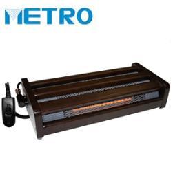 メトロ電気 MFH-321ET 足置きタイプ ハロゲンヒーター 320W 手元電コン式 5時間OFFタイマー付 クリーンポケット 木枠ダークブラウン フットヒーター 足元をポカポカ暖める METRO MFH321ET