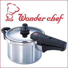 ワンダーシェフ TROIS トロー 片手圧力鍋 5L 浜田ママのレシピ付! 軽さ、便利さ、安全性ならコレ!4~5人家族に適したサイズ!602336
