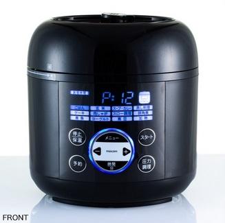【送料無料】コンパクト電気圧力鍋 PCE-MX301-BK  ブラック 調理器具 電気なべ 保温 調理家電 操作簡単 新生活 電気圧力鍋 鍋 MAXZEN