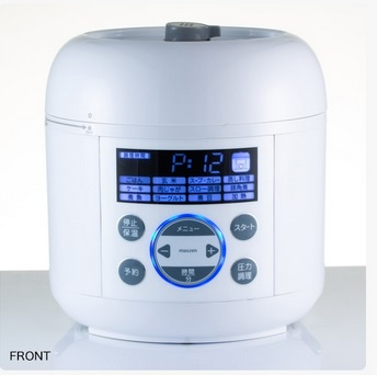 【送料無料】コンパクト電気圧力鍋 PCE-MX301-WH  ホワイト 調理器具 電気なべ 保温 調理家電 操作簡単 新生活 電気圧力鍋 鍋 MAXZEN