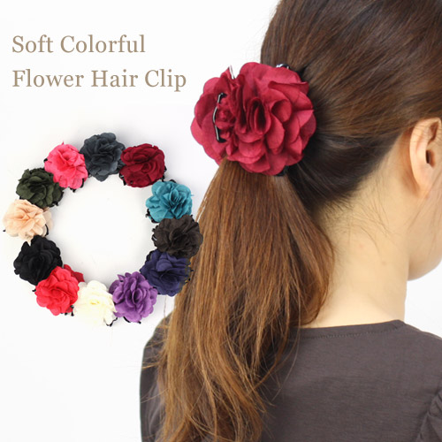 Nadesiko Softly Gorgeous Flower Barrette How To Use Hair