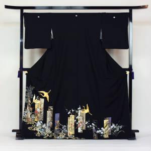 【最大1000円OFFクーポン】【レンタル】黒留袖19点フルコーディネートセット【smtb-k】〔消費税込み〕