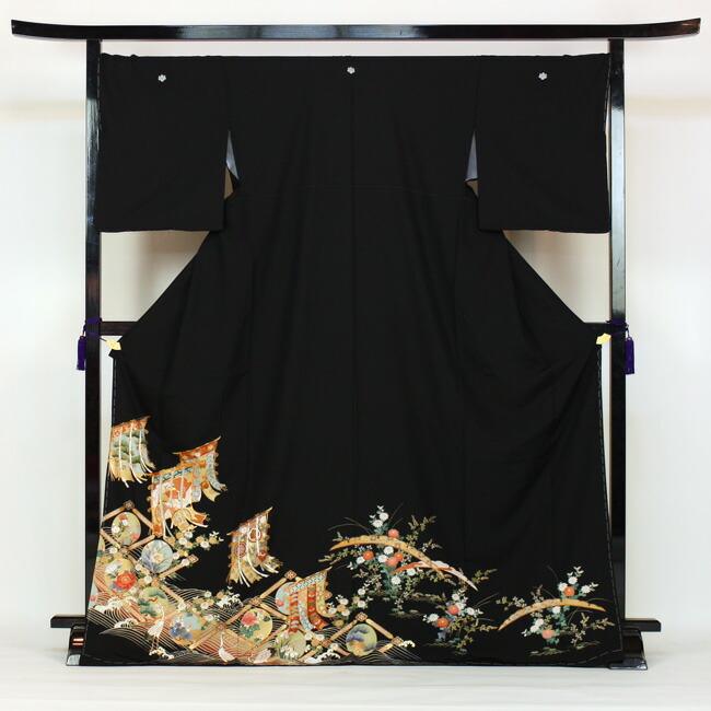 黒留袖 レンタル お値打ち価格で 着物 留め袖 結婚式 お中元 rental 留袖 黒留 kimono れんたる 19点フルコーディネートセット