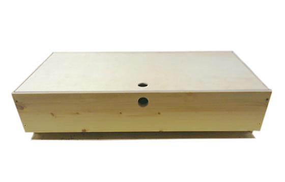 北欧フィンランドの子供用ベット ピルビ専用 ベッド下収納 木製 ボックス キャスター ふた付 高さ19×幅84.5×奥行40cm