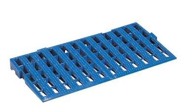 リススノコ セパレート型プラスチック簀の子 スロープ S-63 ブルー 61cm×31cm 10枚 - 岐阜プラスチック工業