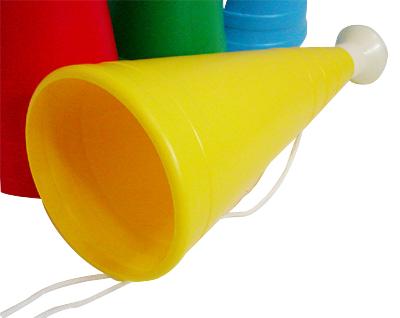 応援メガホン大 長さ31cm レッド/イエロー/ブルー/グリーン/スカイブルー/オレンジの6色から選択 50個