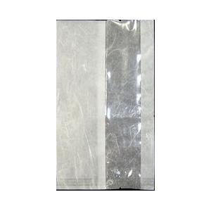 食品包装用 三方シール袋 バリアNY雲龍 縦窓 V型ノッチ付 16×26cm 1,600枚 - 福助工業