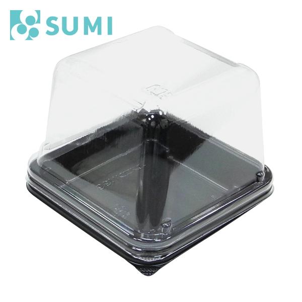和菓子・洋菓子個包装用パック エスコン N99(本体、黒) + AP FN99(フタ) 1,200セット- スミ