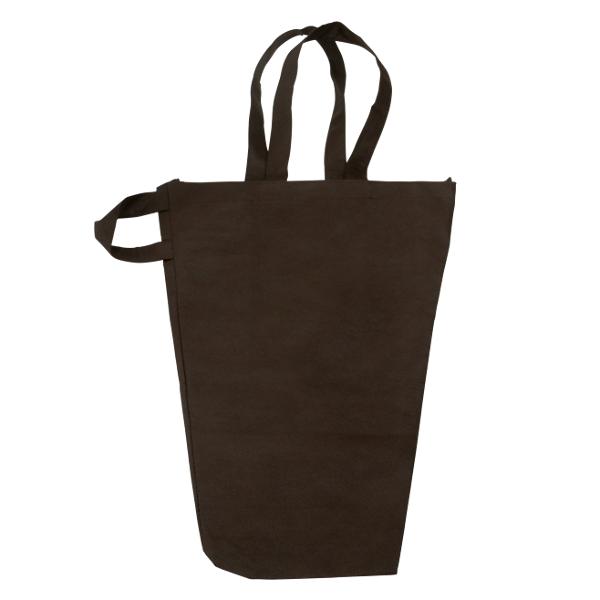 花束用 花袋 不織布袋 ハンディブーケバッグ S 茶色 40cm+16cm×50cm 100枚 パックタケヤマ