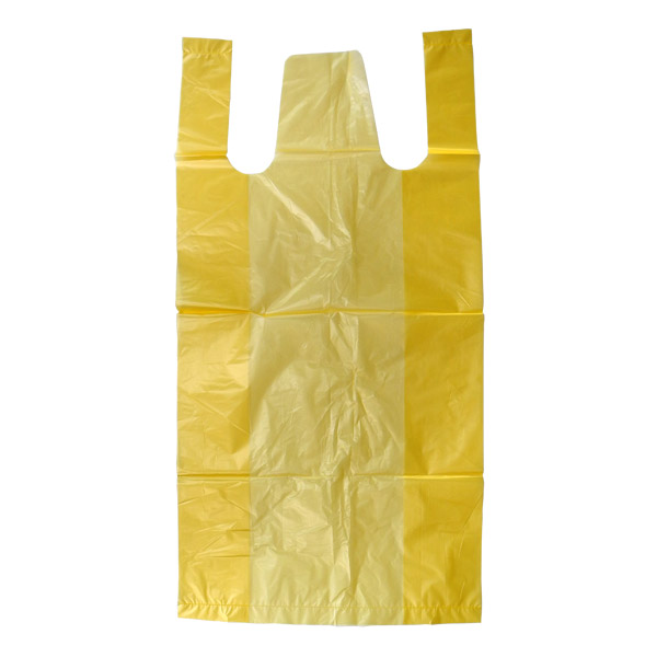 レジ袋型 ゴミ袋 黄色 半透明 45cm×60cm 厚さ0.015mm 20リットル 10枚/冊×100