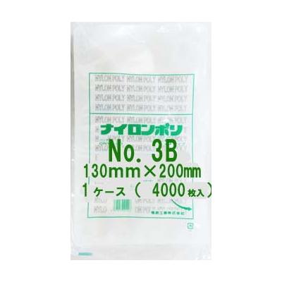 食品包装用 三方シール袋 ナイロンポリ Sタイプ規格ポリ袋 No.3B Vノッチ付 13cm×20cm 4,000枚 - 福助工業
