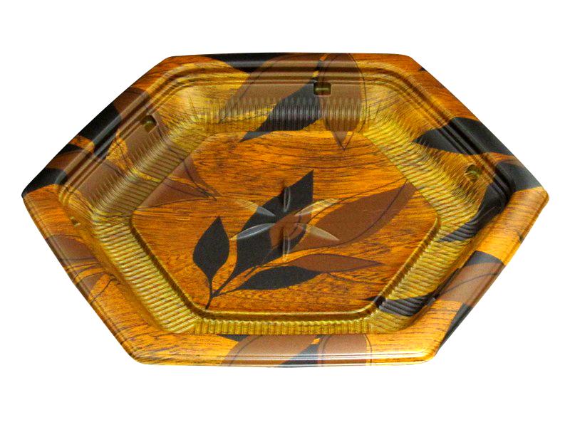 惣菜・軽食用 バイオデリカ KA-R23B モカブラウン 本体 + ふた KA-R23-OC 25cm×22.3cm×2.4/3.6cm 600セット - リスパック