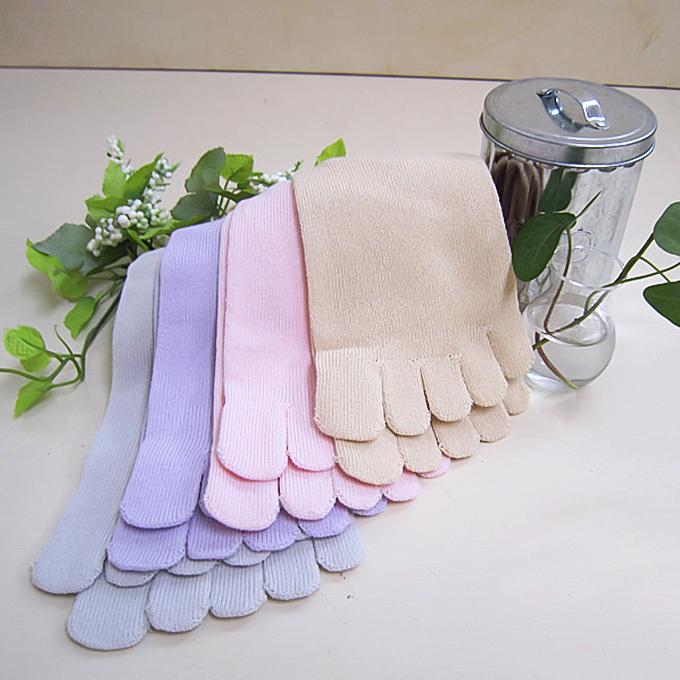 超サラサラ綿糸を使用した婦人さらさらメッシュ編みの5本指