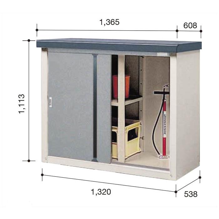 ビニトップ収納庫VL-1305T【Dパック】間口1365mm●ナフコオリジナルで高品質&低価格な収納庫