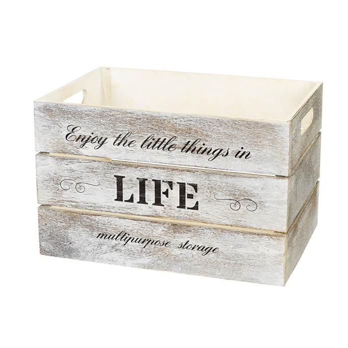 軽くて質感豊かな桐製のBOX ウッドボックス3824 WH WD3824-WH [並行輸入品] 在庫一掃