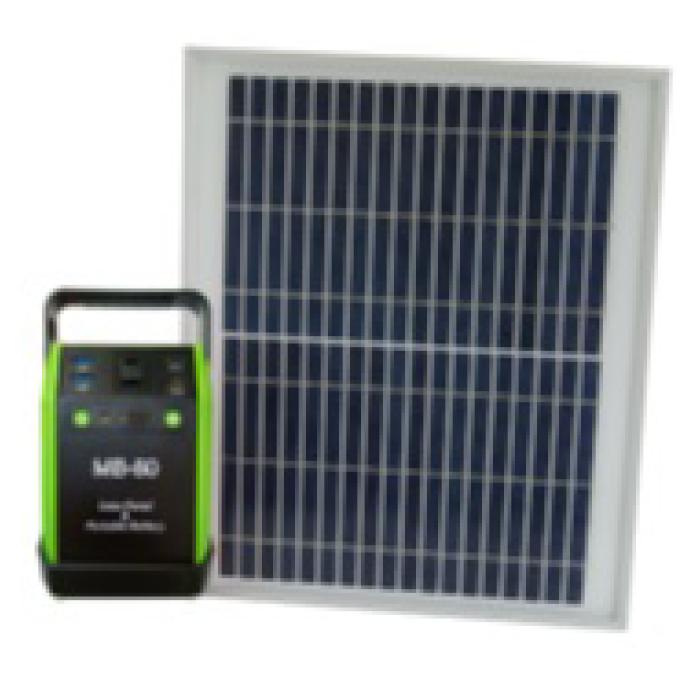 NAFCO ソーラーパネル付モバイルバッテリー MB-80