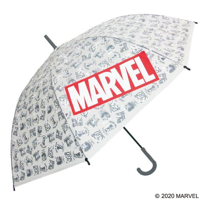 ◆高品質 マーベルデザインのカッコイイビニール傘 sekizawa ビニール傘 MARVEL GY 供え イニシャル 70cm