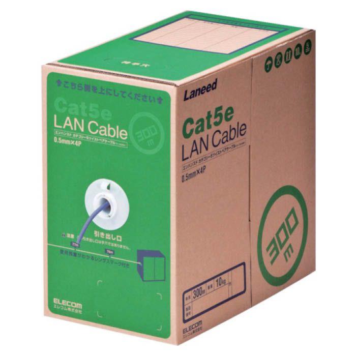 (T)エレコム EU RoHs指令準拠LANケーブル Cat5e 300m パープル 8357601