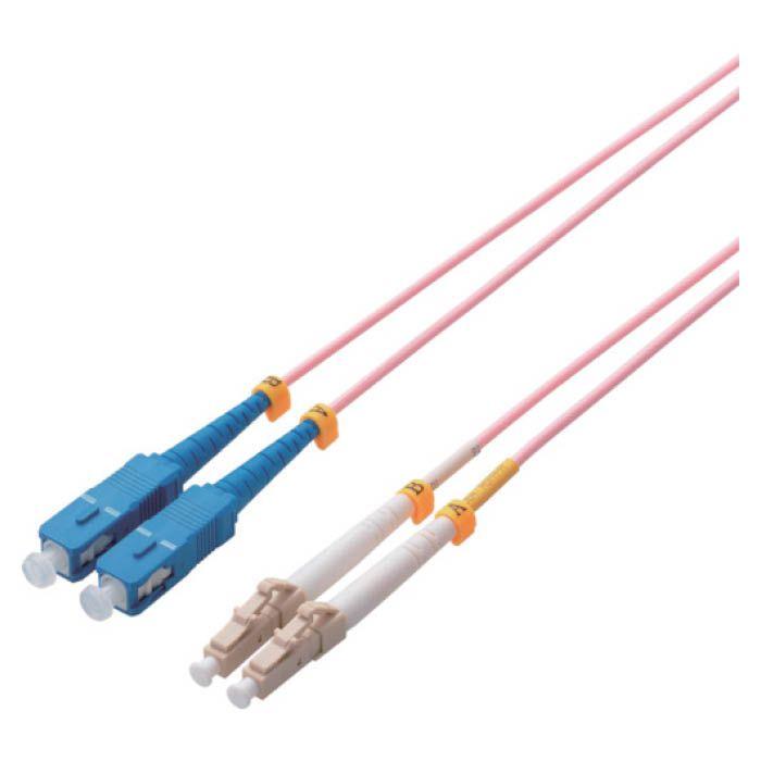 (T)エレコム 光ファイバーケーブル マルチモード 10G LC-SC 3m 8357621