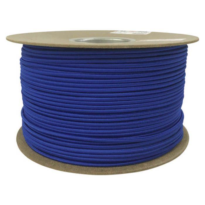 (T)ユタカメイク タイトゴムロープドラム巻 4.5mm×200m ブルー 1613335