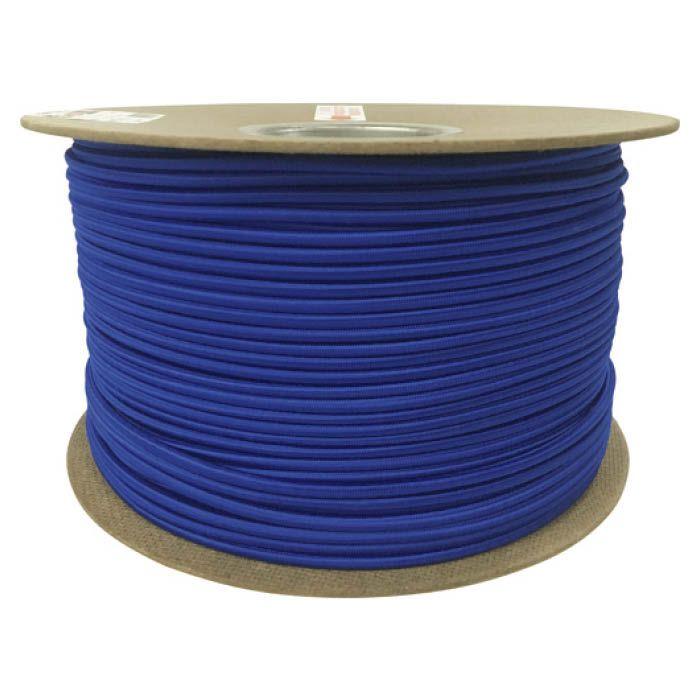 (T)ユタカメイク タイトゴムロープドラム巻 6mm×200m ブルー 1613340
