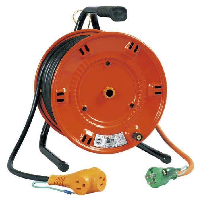 (T)日動 電工ドラム びっくリール 一般型ドラム100V アース付 20m NL-E20S 1255509