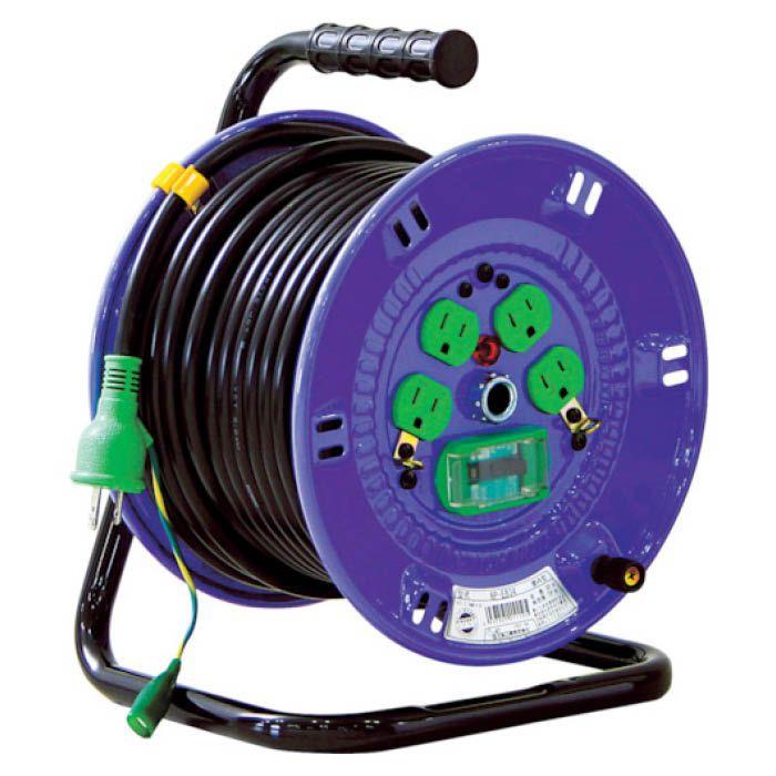 (T)日動 電工ドラム 標準型100Vドラム 30m アース付漏電遮断器付 VCT2.0×3 NP-EB34 3686477