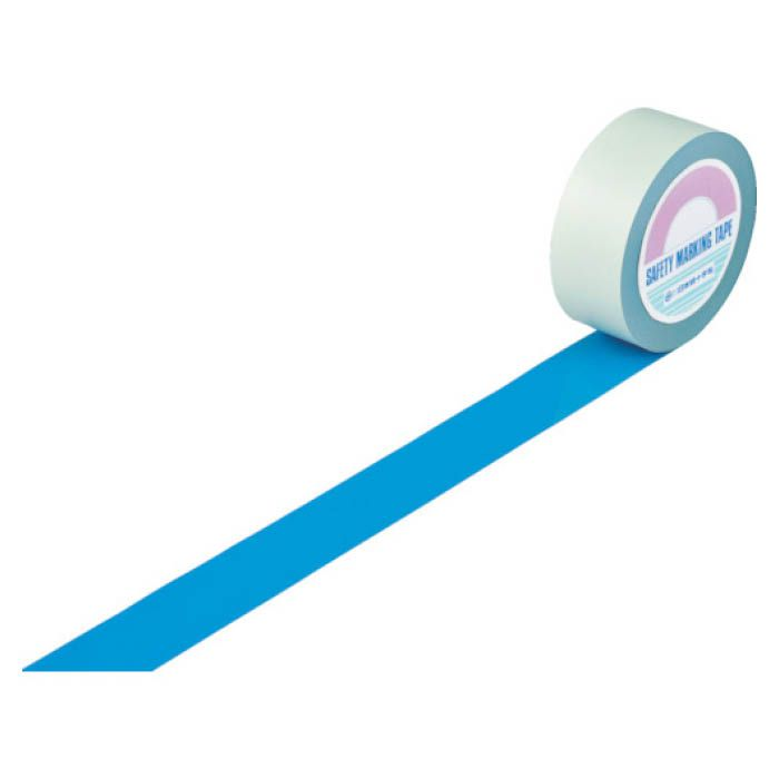 (T)緑十字 ガードテープ(ラインテープ) 青 50mm幅×100m 屋内用 148056