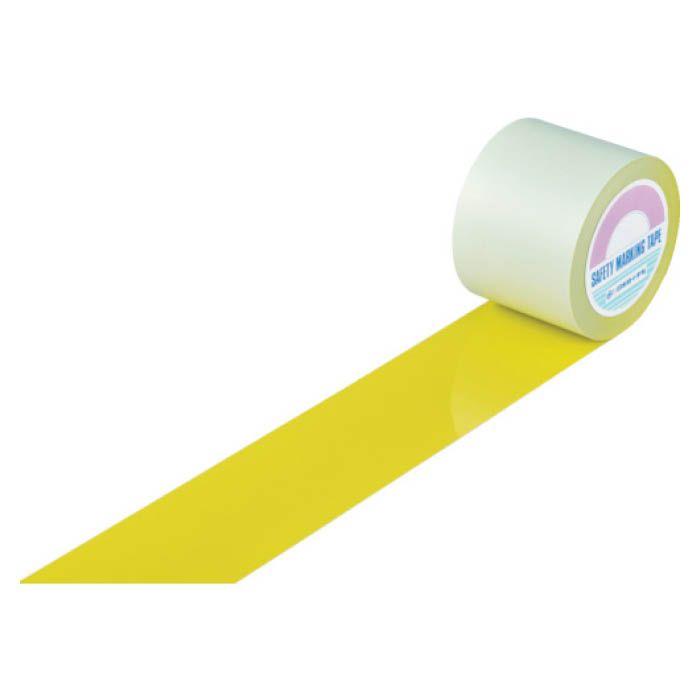 (T)緑十字 ガードテープ(ラインテープ) 黄 100mm幅×20m 屋内用 148153