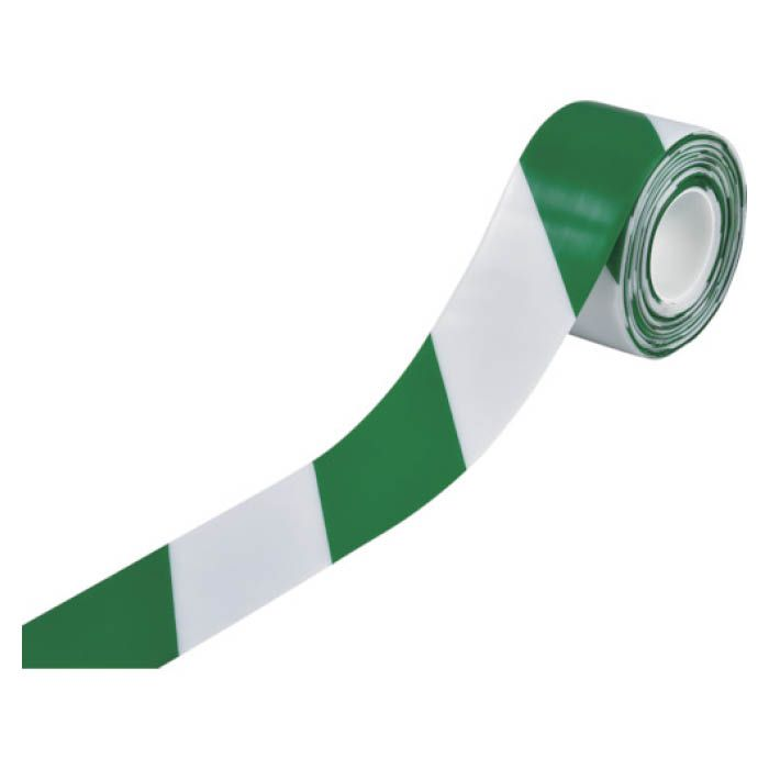 厚みのあるPVC基材の両端部にはテーパー構造を採用しており 剥がれにくく 破れにくい 耐久性に優れたフロア用ラインテープです 返品送料無料 T 緑十字 両端テーパー構造 100mm幅×10m 時間指定不可 白 高耐久ラインテープ 緑 403089