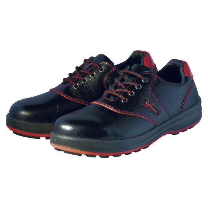 (T)シモン 安全靴 短靴 SL11-R黒/赤