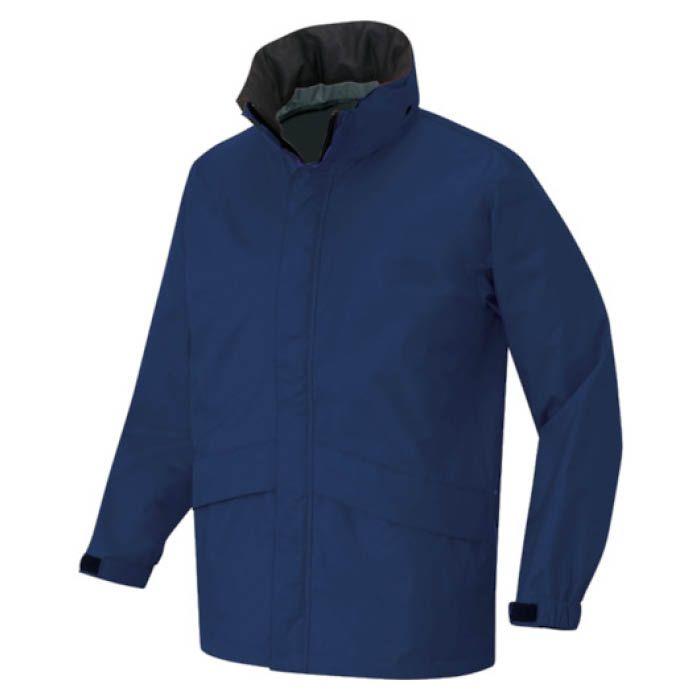 世界最高水準の防水・透湿・低結露素材です。本格的レインウェア仕様です。 (T)アイトス ディアプレックス ベーシックジャケット ネイビー LL AZ56314008LL