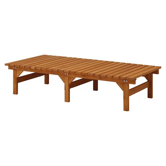 現品 優しい木の質感でお庭にアクセント DX縁台90×180 SALENEW大人気 BMSH-189N