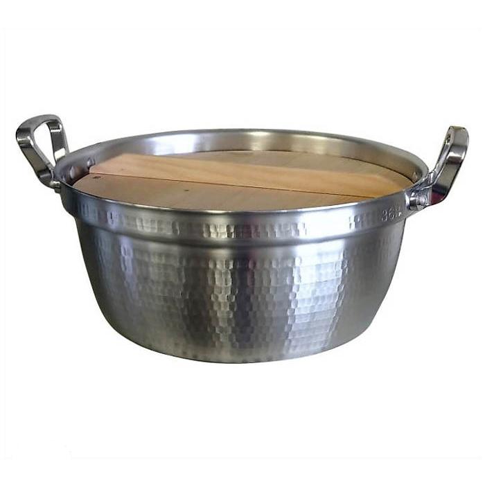 国産打出料理鍋 36cm 木蓋付