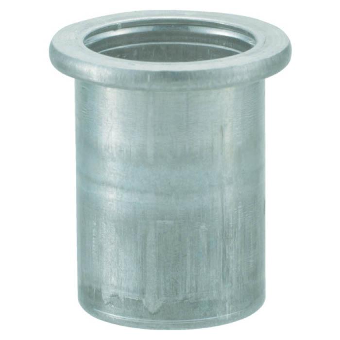 (T)TRUSCO(トラスコ)クリンプナット平頭アルミ 板厚4.0 M6X1.0  1000個入