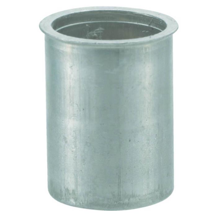 (T)TRUSCO(トラスコ)クリンプナット薄頭アルミ 板厚2.5 M6X1  (1000個入)