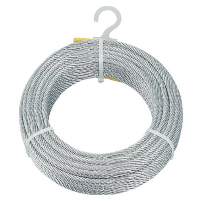 【エントリーでポイント5倍】(T)TRUSCO(トラスコ)メッキ付ワイヤロープ Φ6mmX100m【2019/7/21 20時 - 7/26 1時59分】