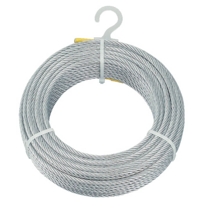 (T)TRUSCO(トラスコ)メッキ付ワイヤロープ Φ8mmX100m