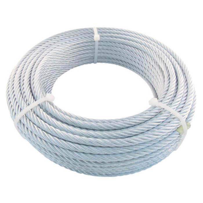 (T)TRUSCO(トラスコ) JIS規格品メッキ付ワイヤロープ (6X24)Φ9mmX30m