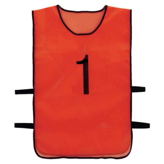 (T)TRUSCO(トラスコ) 番号安全ベスト「1」ー「10」各1枚セットオレンジ
