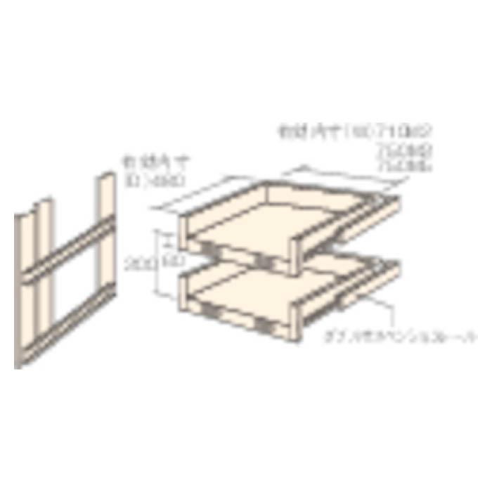 (T)TRUSCO(トラスコ) M2型棚用スライド棚 2段セット